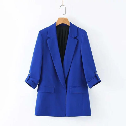 Loose Roll Sleeve Blazer