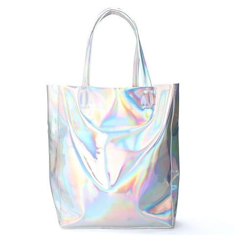 HOLOGRAPHIC IRIDESCENT TOTE BAG