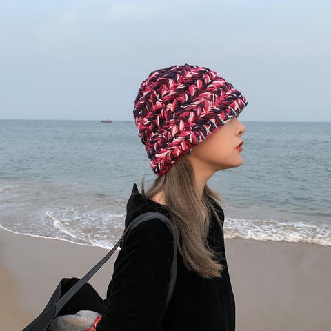 Colorful Woven Knit Fisherman Hat
