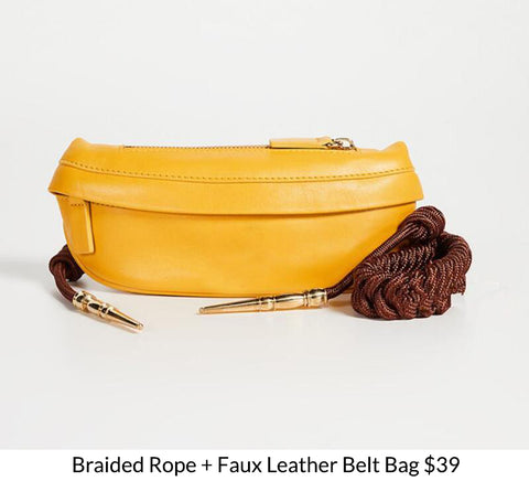 Braided Rope + Faux Leather Belt Bag