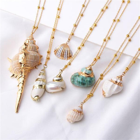 shell and gold necklaces summer 2019