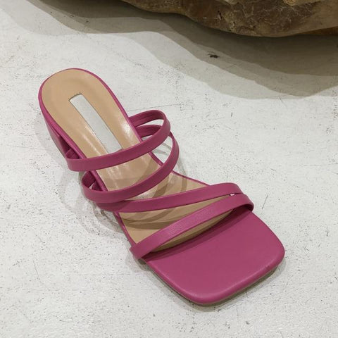 Rosy Pink Strappy Summer Sandals