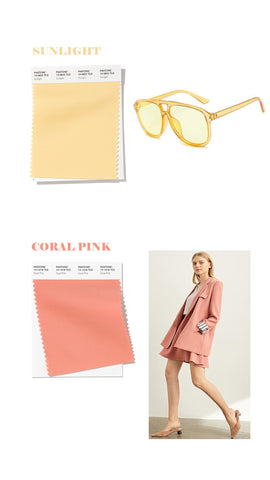 spring summer 2020 colors sunlight yellow and coral pink