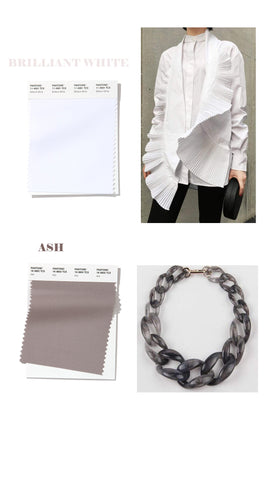 spring summer 2020 colors bright white and ash gray