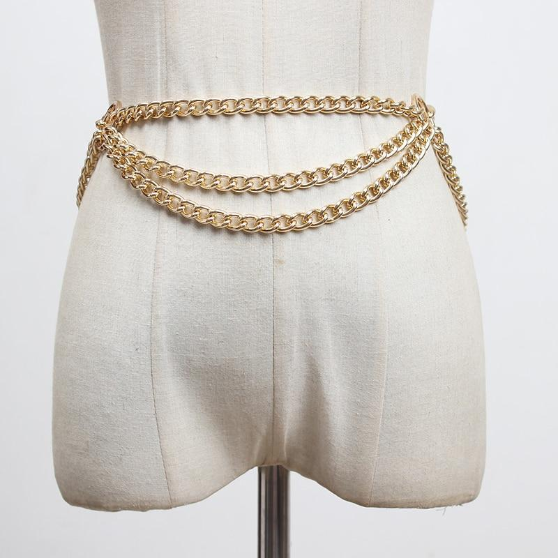 Drape Metal Chain Belt-Hoyden