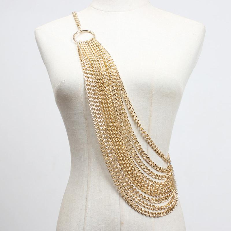 Draped Chain Belt Sash-Hoyden