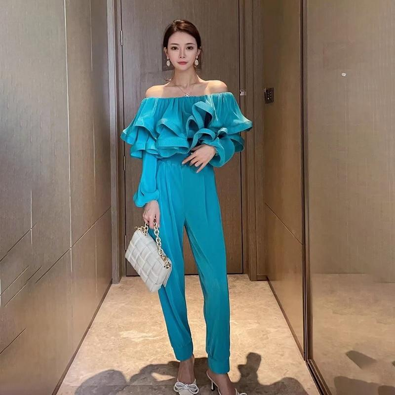 Off-the-Shoulder Tiered Ruffle Jumpsuit-Hoyden
