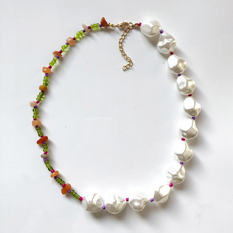 Pearl + Bead Necklace-Hoyden