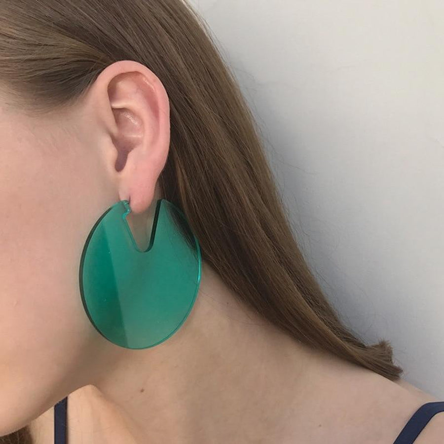 QUICK SHIP Acrylic Disc Earrings-Hoyden