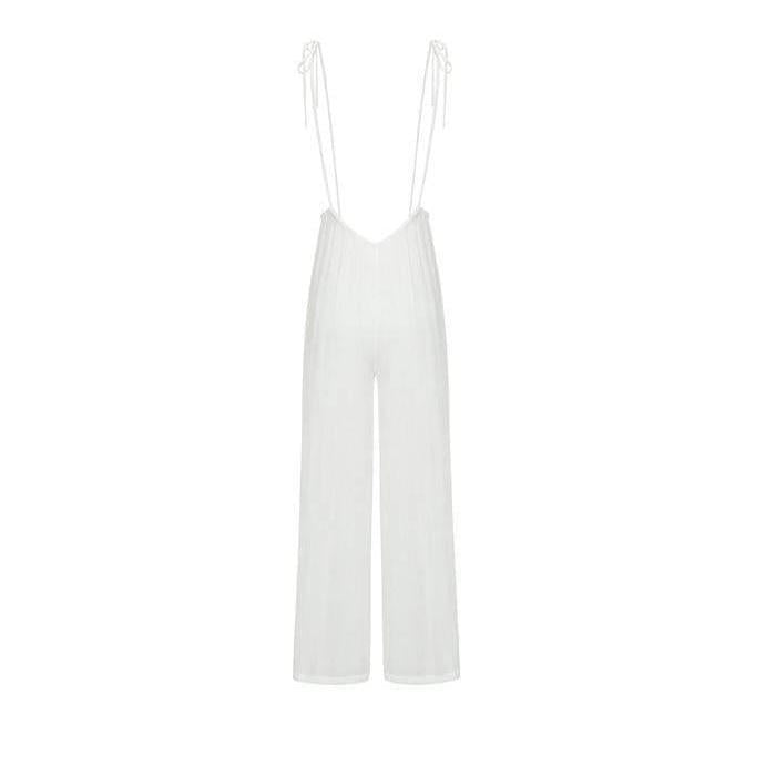 Spaghetti Strap Swimsuit Cover-up Overalls-Hoyden