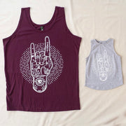 Eye Rock - Unisex Singlet - Adult Maroon