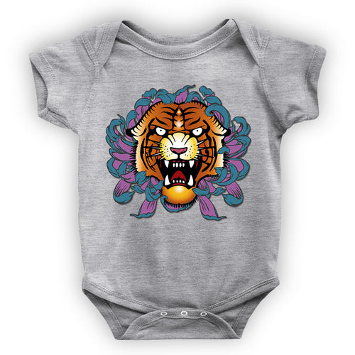 Grey Tiger Onesie - Fresh Soul Baby