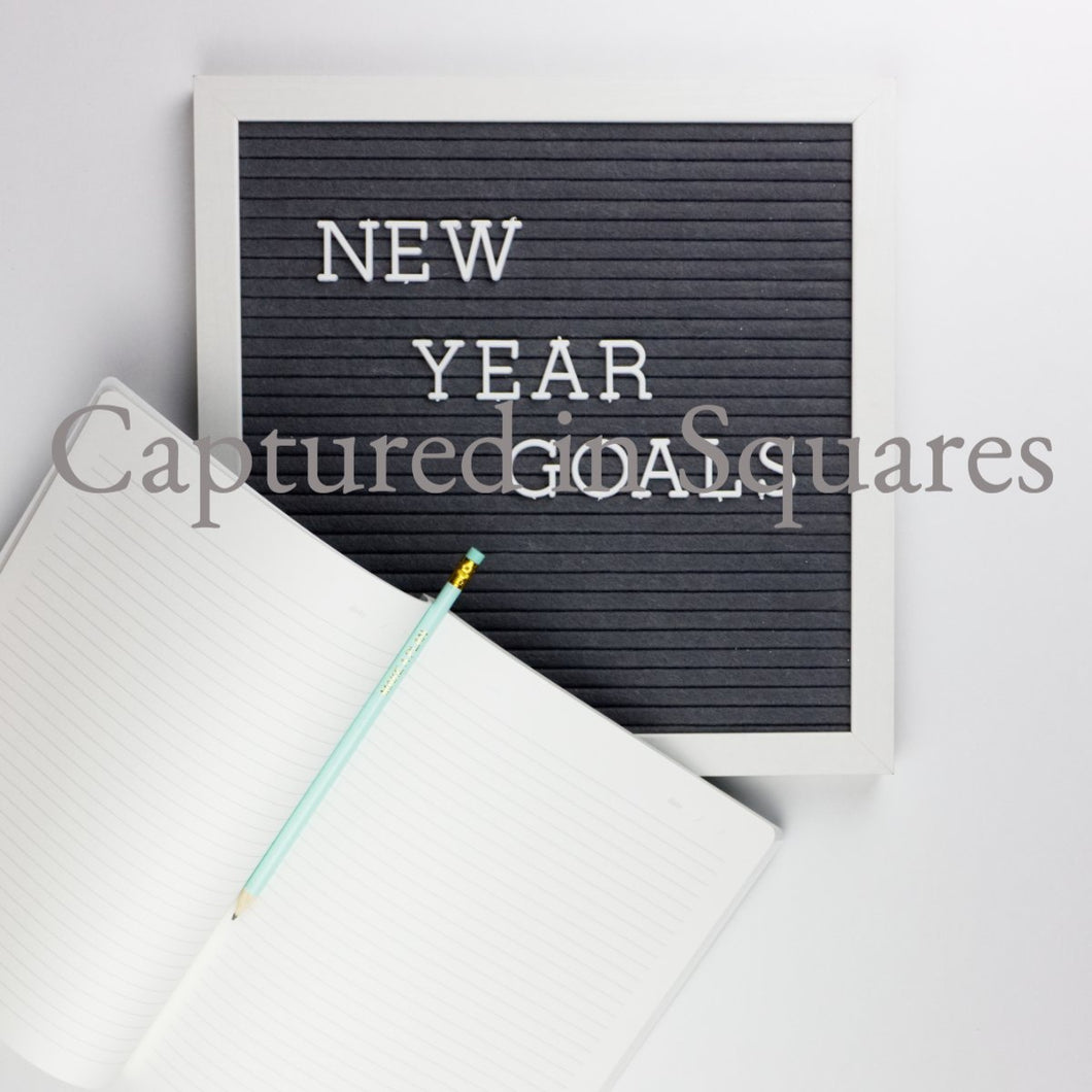 New Year Goals Letter Board 2