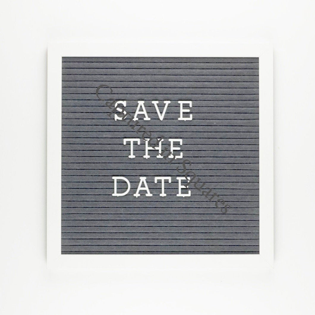 Save the Date Letter Board
