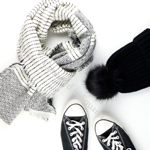 Black and White Accessories Flatlay