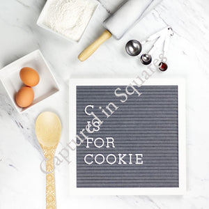 C is for Cookie Letter Board