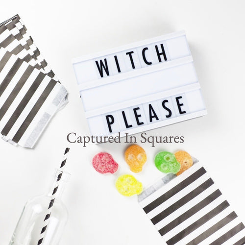 Witch Please Letter Board with Skull Candy