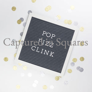 Pop Fizz Clink Letter Board 2