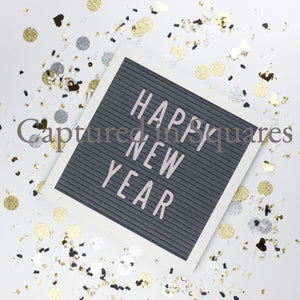 Happy New Year Letter Board