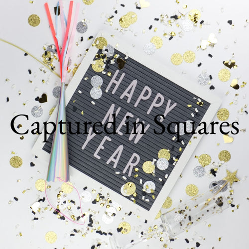 Happy New Year Letter Board 2