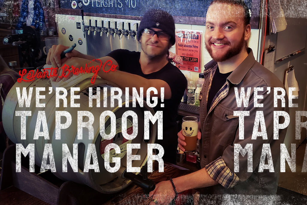 We're Hiring - Taproom Manager