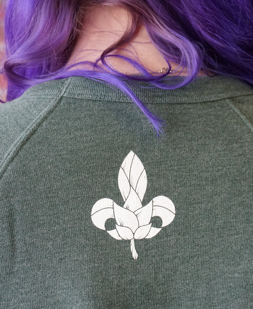 Crew Neck Fleece - Forest Green