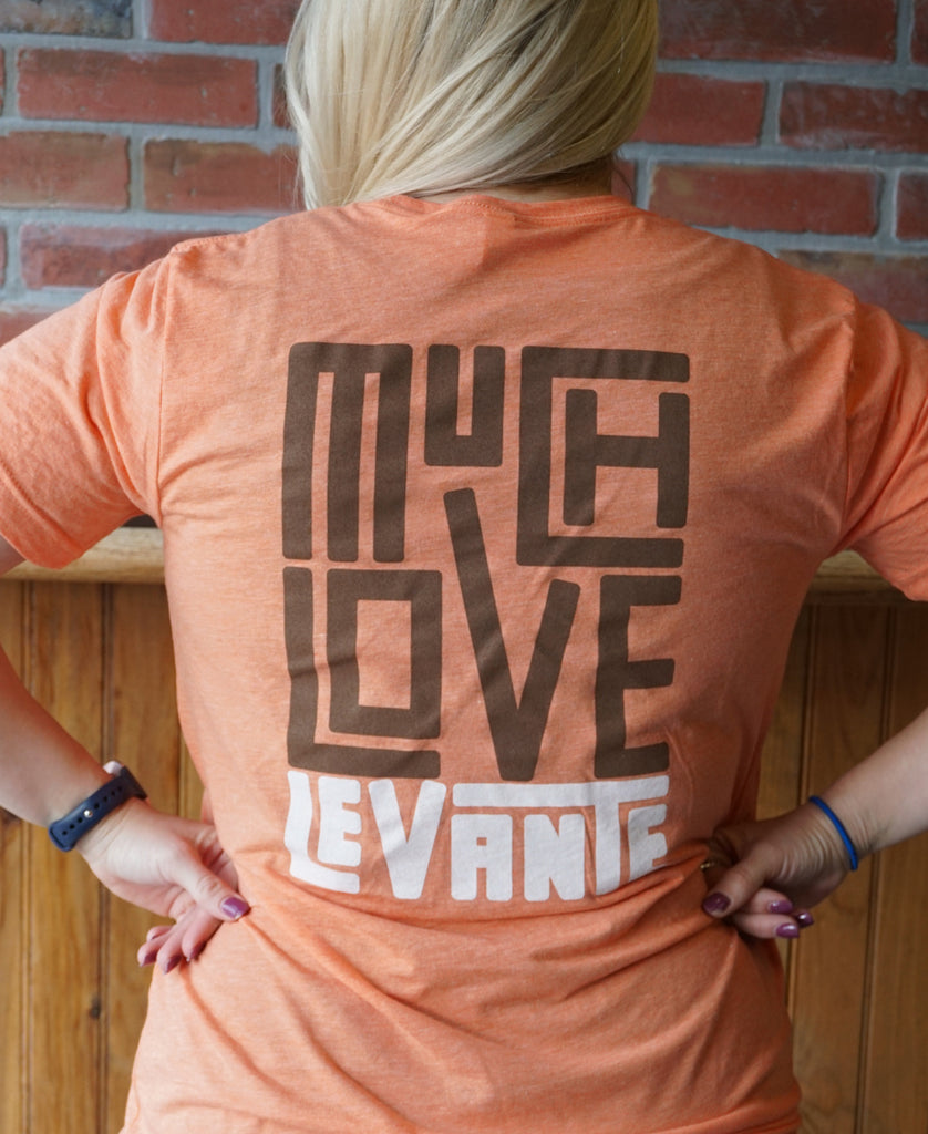 Much Love T-Shirt (Coral Orange)
