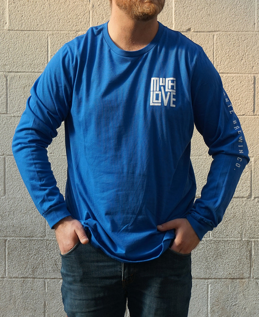 Much Love Long Sleeve - Bright Royal Blue