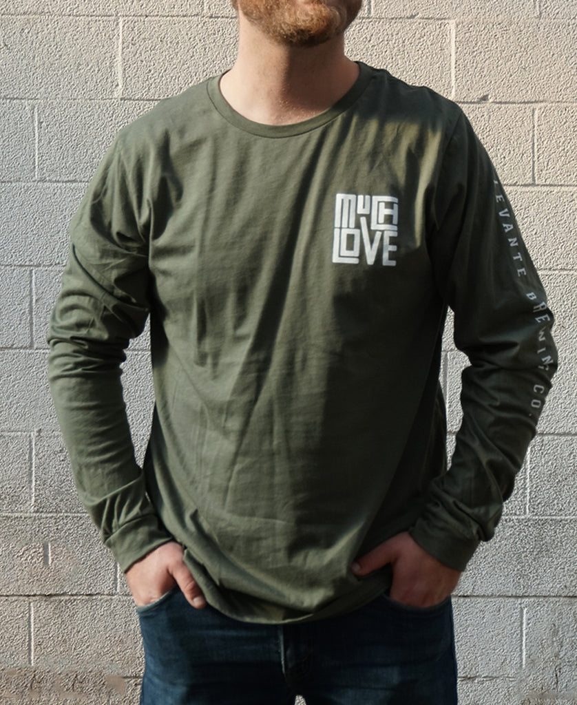 Much Love Long Sleeve - Forest Green