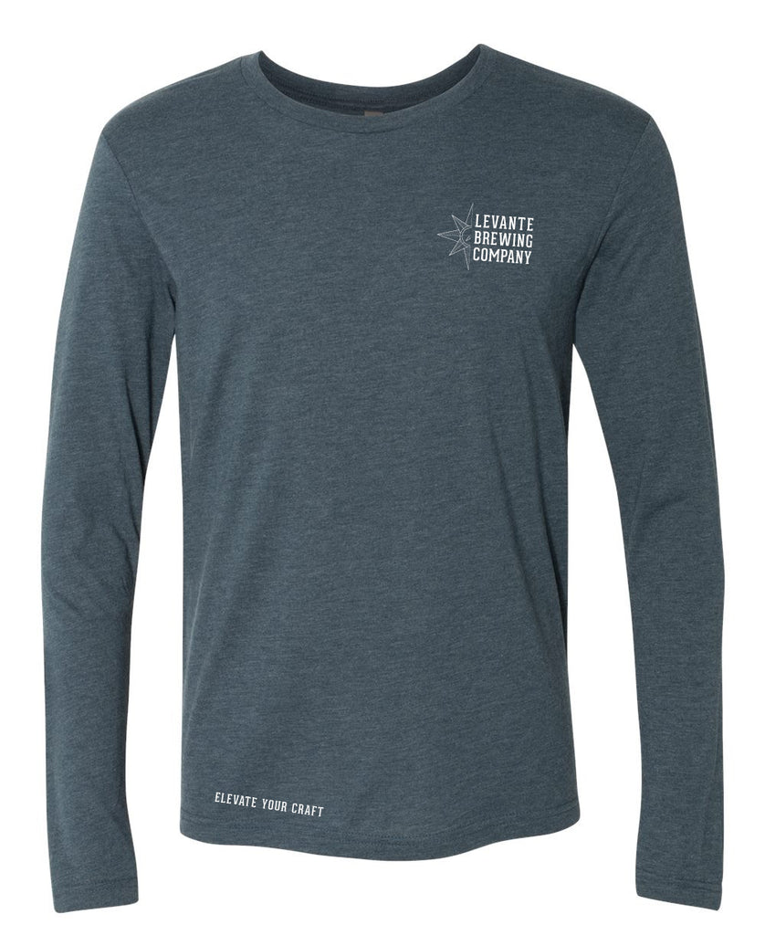 Stacked Logo Long Sleeve Crew