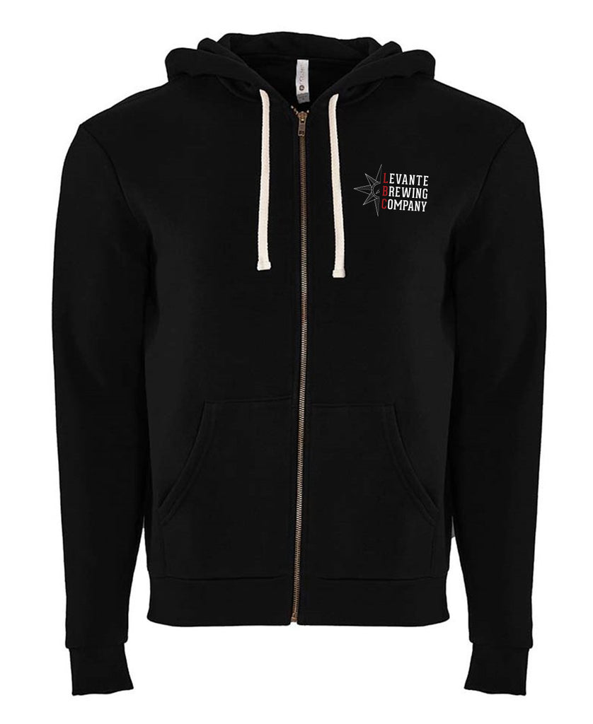 Stacked Logo Zip-Up Hoodie