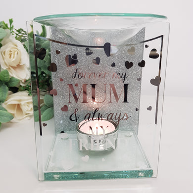 Glass Wax Melt and Oil Burner (2 Sayings)
