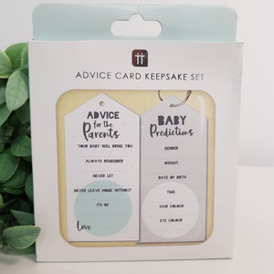 New Baby Advice Card Keepsake Set