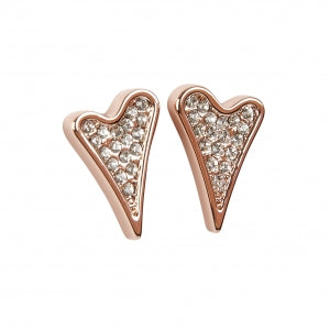 Miss Dee Rose Gold Diamante Stud Earrings