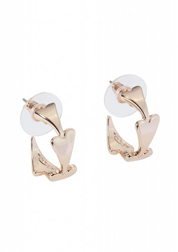 Miss Dee Rose Gold Heart Shaped Hooped Earrings