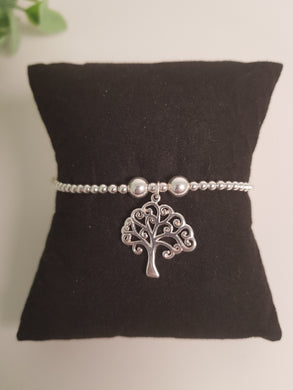 Trink Sterling Silver Tree Of Life Charm Bracelet