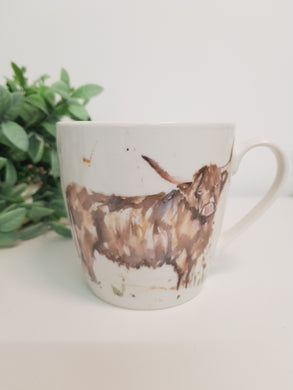 Highland Cow Fine China Mug