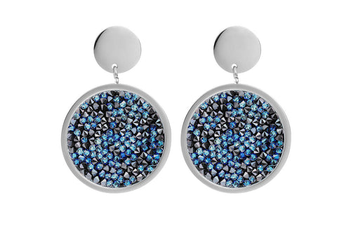 Qudo Bermuda Blue Tirano Earrings - Steel