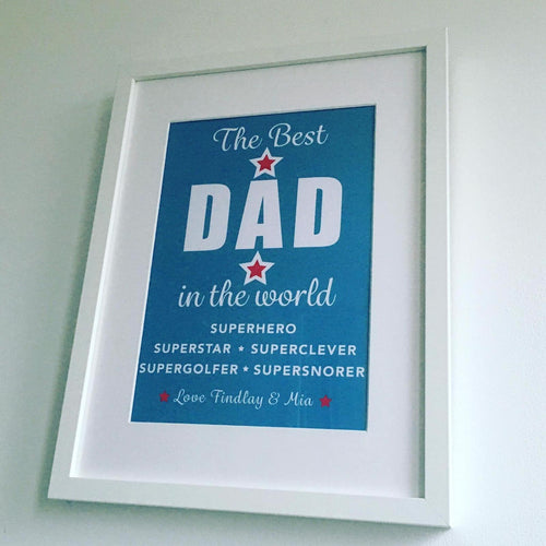 Personalised Male Framed Prints