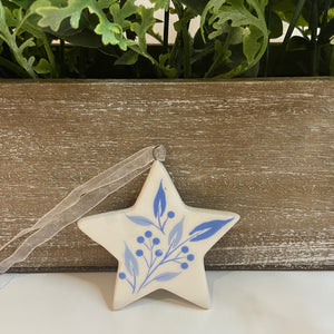 SALE- Blue and White Star