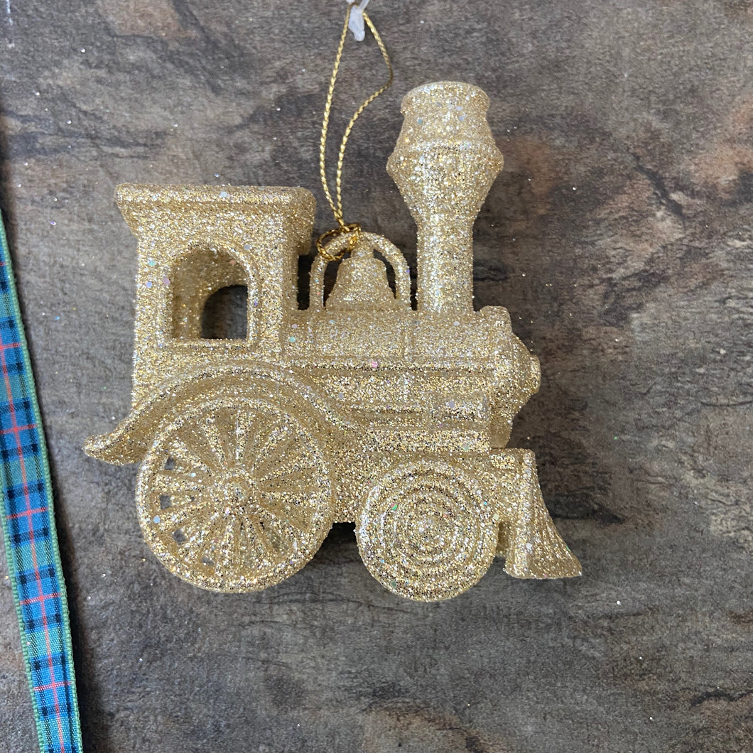 Gold Train Hanging Decoration