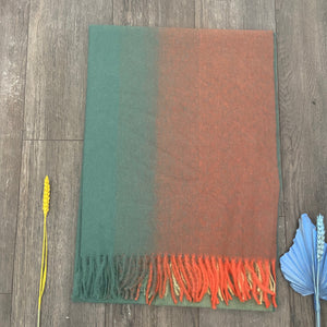 Orange & Green Scarf