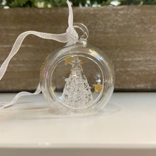 Hanging Clear Christmas Tree Bauble