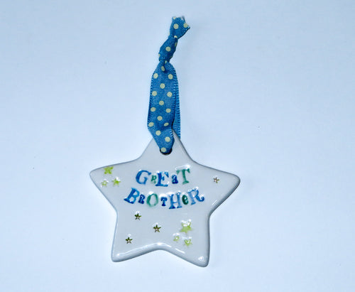 Great Brother Ceramic Hanging Star