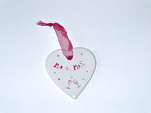 Mr & Mrs Ceramic Hanging Heart