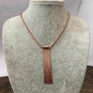 Rose Gold SNO Long Necklace