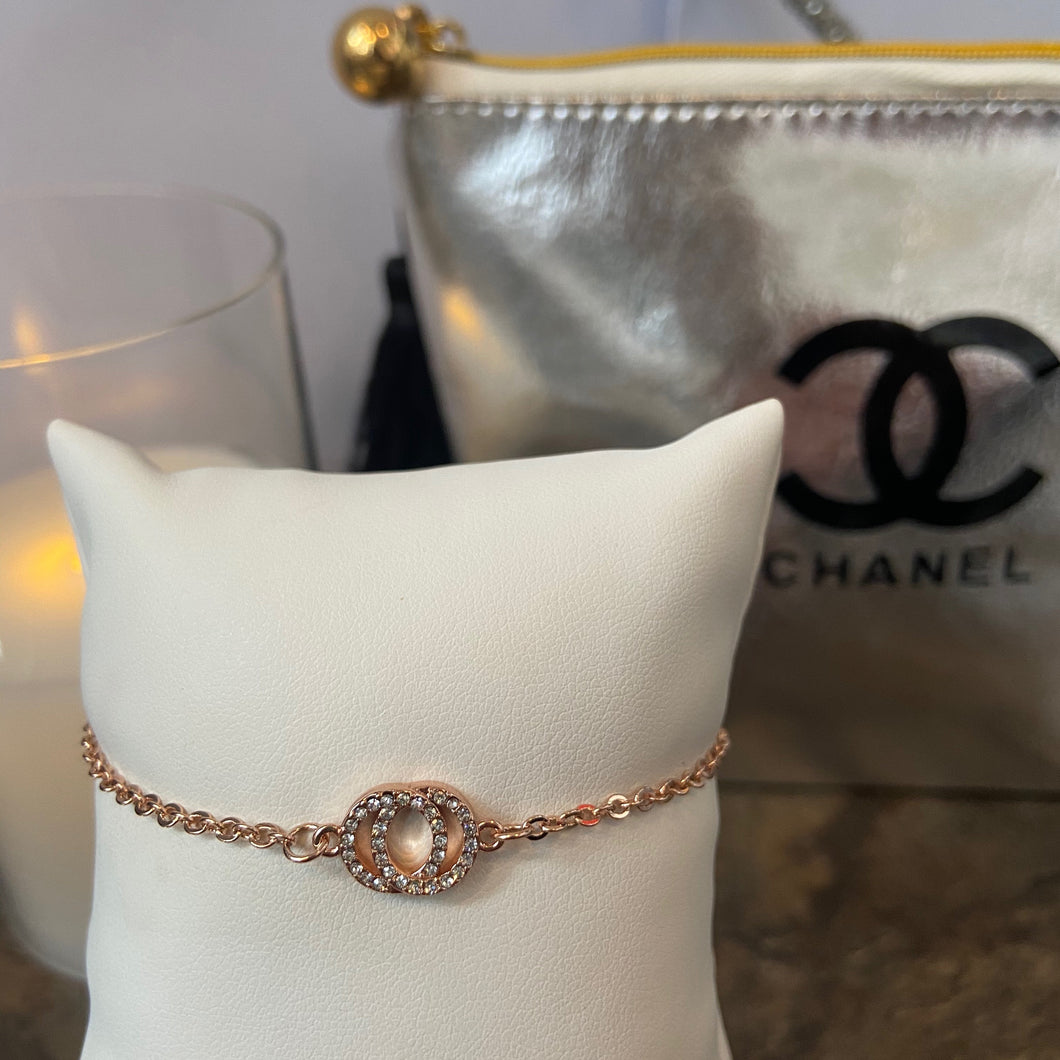 Francis Rose Gold Crystal Bracelet