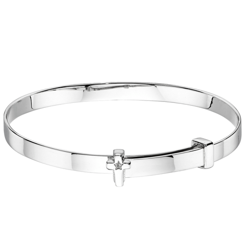 Honor Diamond Cross Baby Bangle
