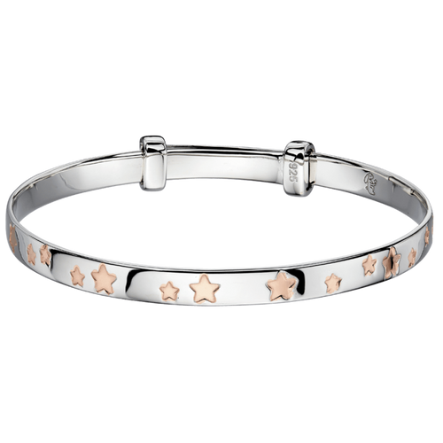 Jessica Rose Gold Star Christening Bangle