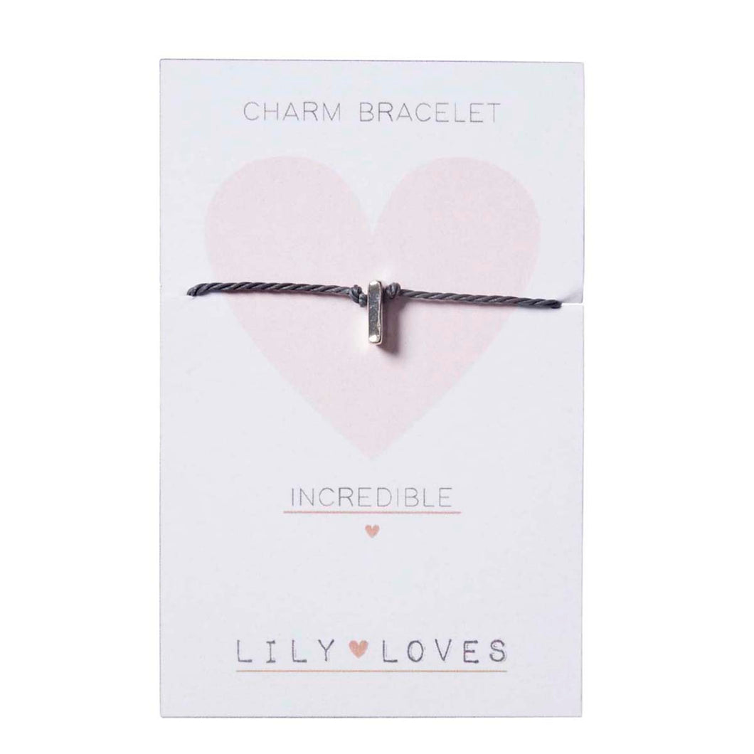 I for Incredible - Charm Bracelet